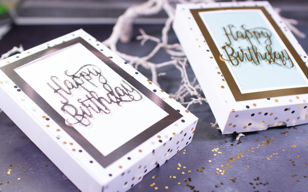 Gutscheinbox mit Hebefach zum Geburtstag