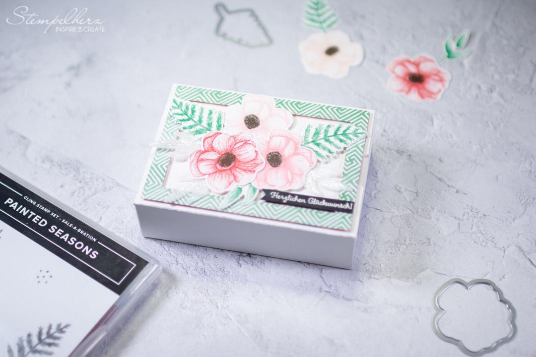 painted seasons box variante 2 stampin 39 up mit stempelherz. Black Bedroom Furniture Sets. Home Design Ideas