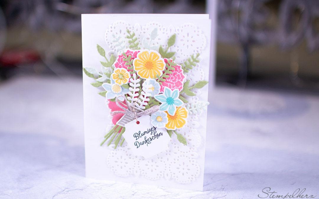 Muttertagskarte Blumenstrauss