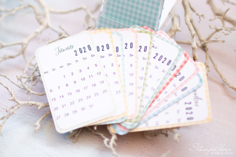 Visitenkartenkalender 2020 - mit Produkten von Stampin' Up!