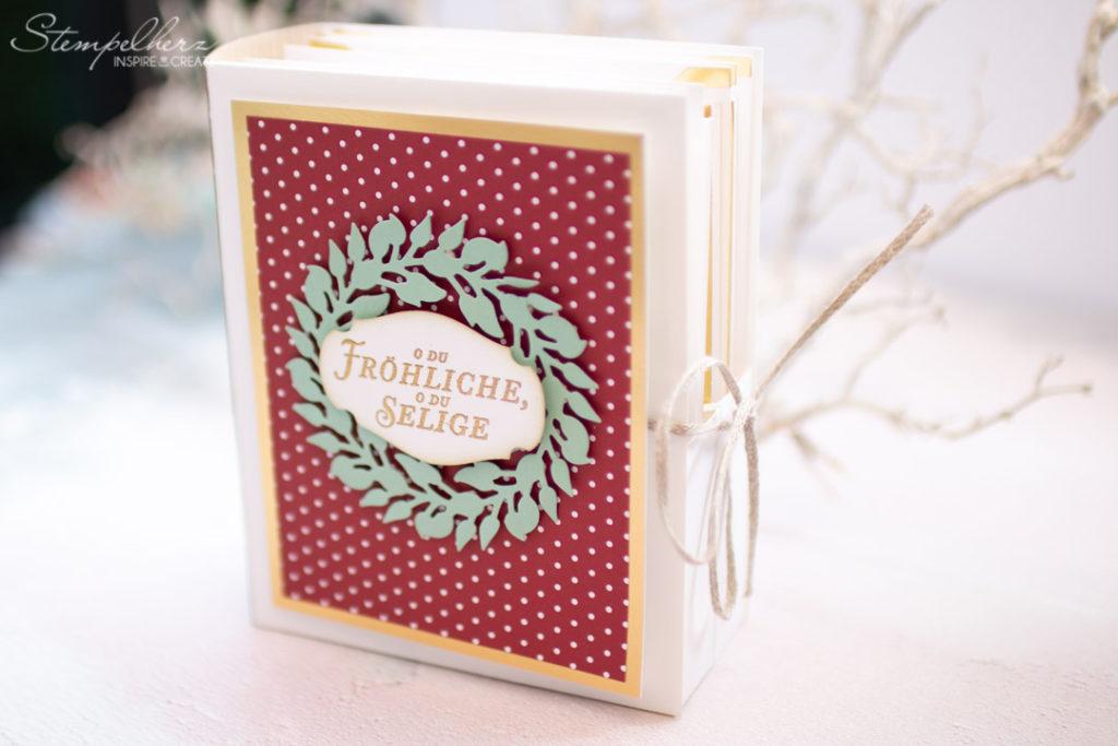 Weihnachtskartenset Kranz voller Freude