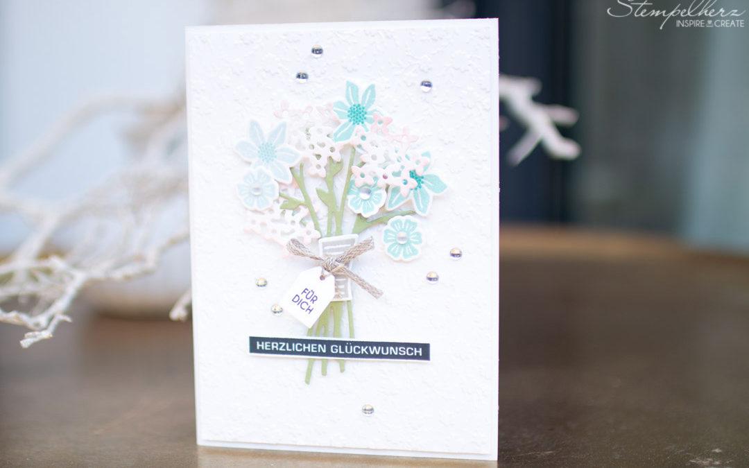 Geburtstagskarte Blumenstrauss
