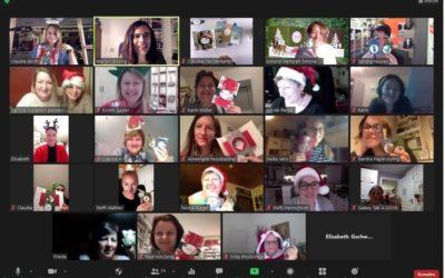 Virtuelles Teamtreffen – Stempeherz & Marion stempelt