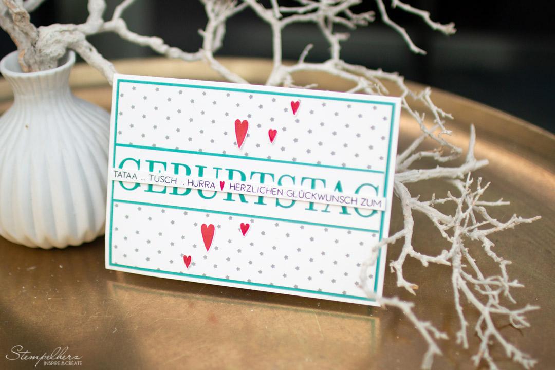 Geburtstagskarte für meinen Schatz - StampinUp! mit