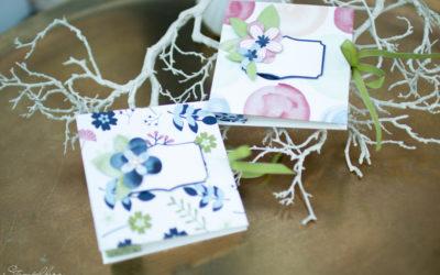 Minialbum Kronenbindung Papierblüten