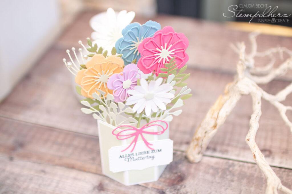 Stampin' Up! - Stempelherz - Pop-Up-Karte - Blumen zum Muttertag