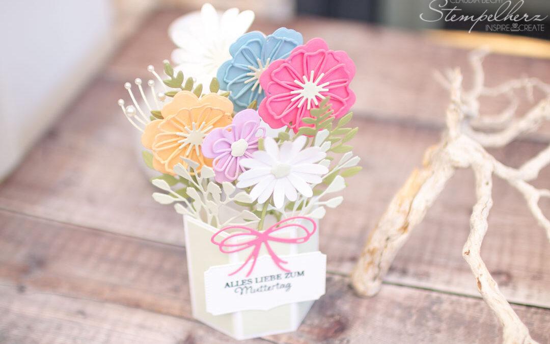 Pop-Up-Karte Blumen zum Muttertag