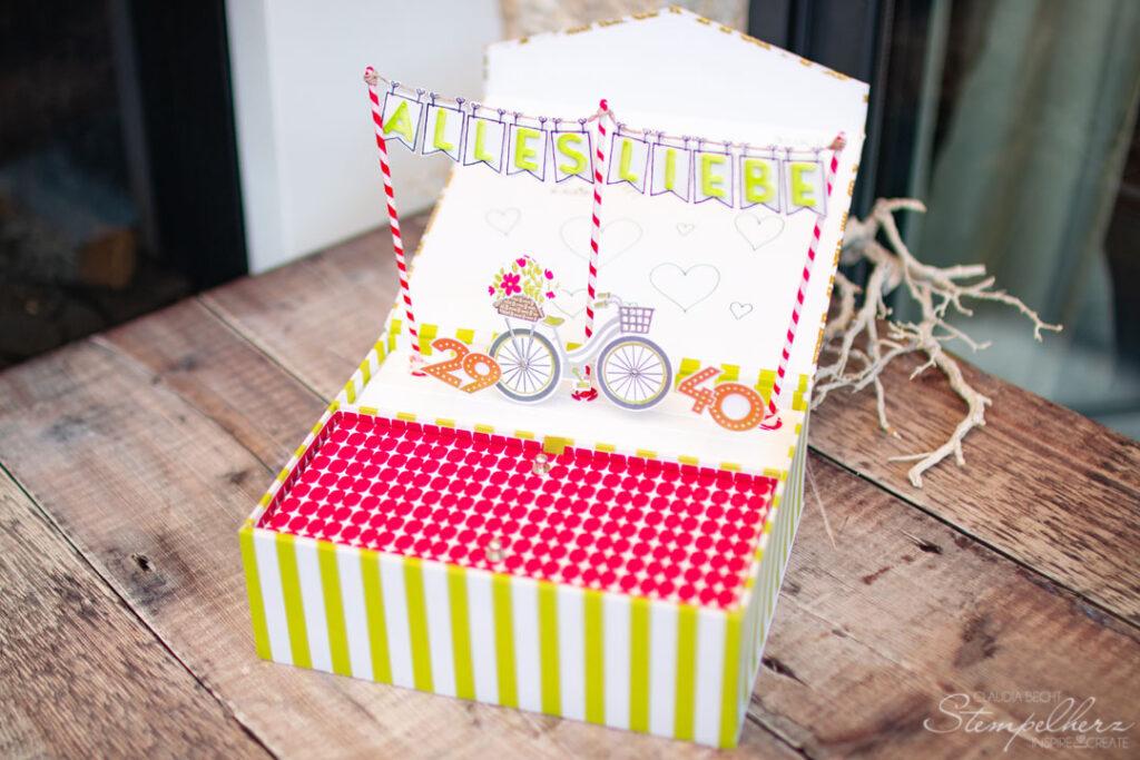 Stampin' Up! - Stempelherz - Geburtstagsbox Fahrrad