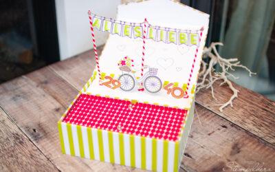 Geburtstagsbox Fahrrad mit Stecksystem