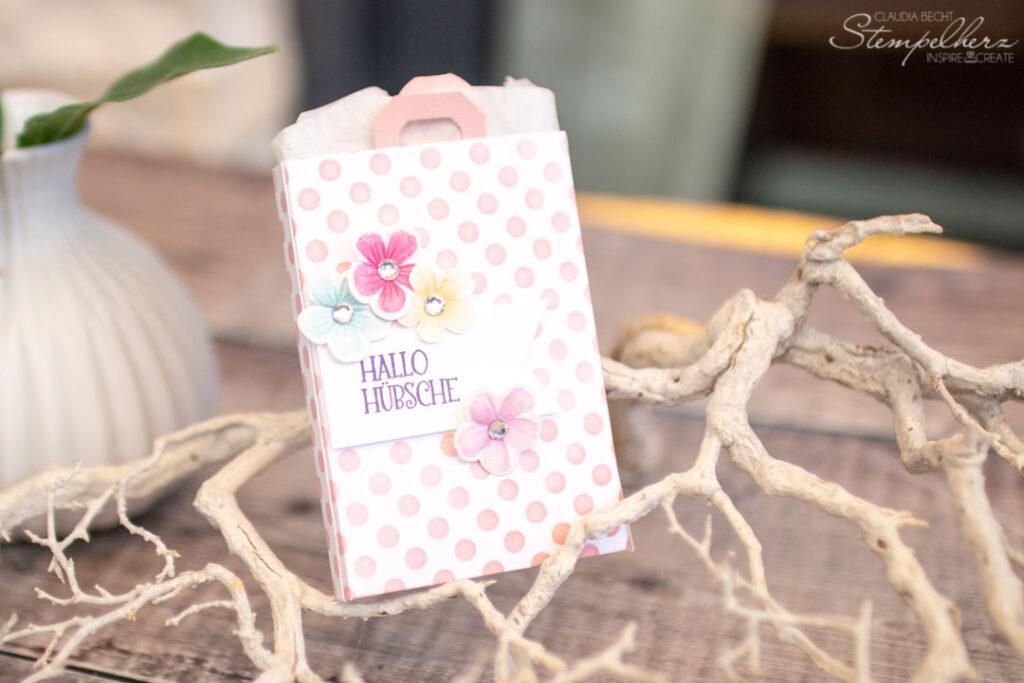 Stampin' Up! - Stempelherz - Gutscheinverpackung - Blumen voller Freude - Shoppingbag