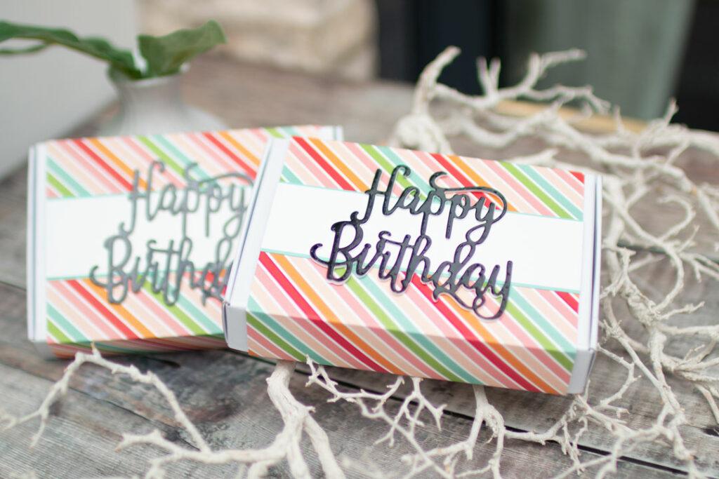 Stampin Up - Stempelherz - Paper Pumpkin-Minischachtel - Geburtstagsbox