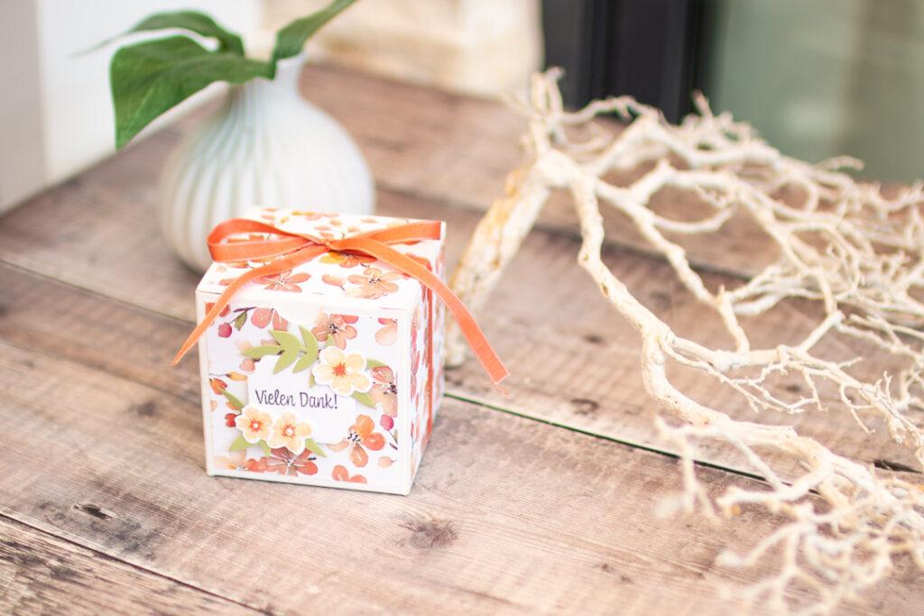 Stampin' Up - Stempelherz - Süsse Pfirsiche - Geschenkverpackung Seife