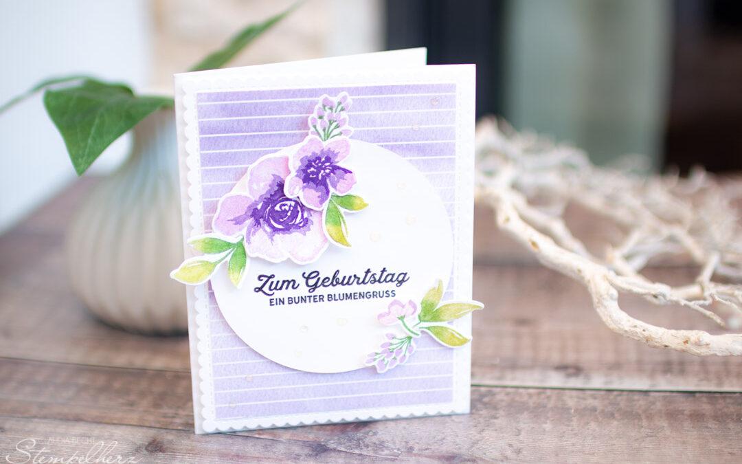 Geburtstagskarte Blumengruss