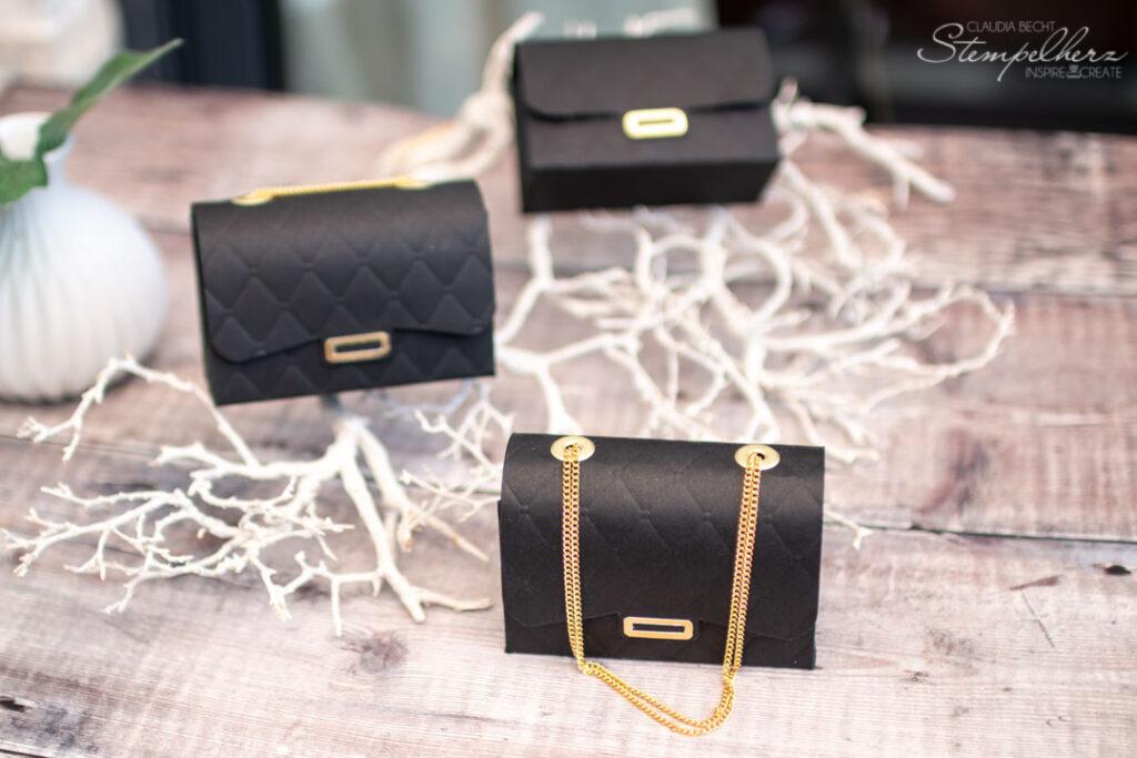 Stampin' Up! - Stempelherz - Gutscheinverpackung Handtasche mit Gutschein