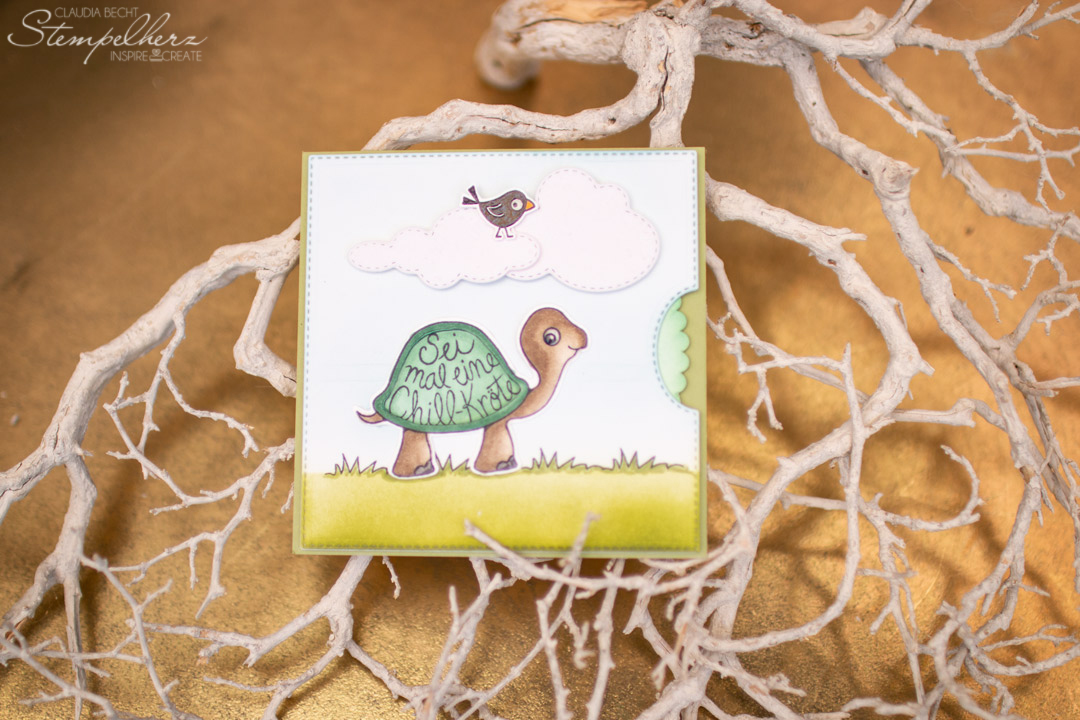 Stampin-Up - Stempelherz - Der richtige Dreh - Stempelset Chill-Kröten - Drehkarte
